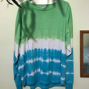 Catalina island Green and blue tie-dye sweatshirt.